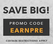 Save with promo code EARNPRE